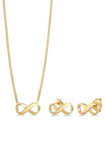 Elli Schmuckset »Infinity/Unendlichkeitszeichen, 0911352717, 0911782717, 0909361219«, mit Kristallen kaufen