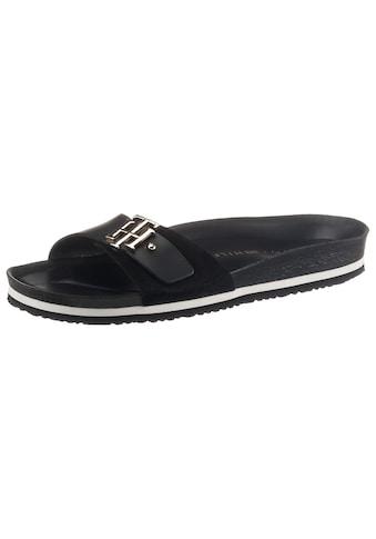 Tommy Hilfiger Pantolette »TH MOLDED FOOTBED SANDAL«, in schmaler Schuhweite, mit TH... kaufen