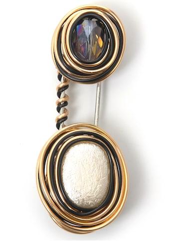J.Jayz Brosche »mehrfarbig, mit Spirale«, mit Glasstein kaufen