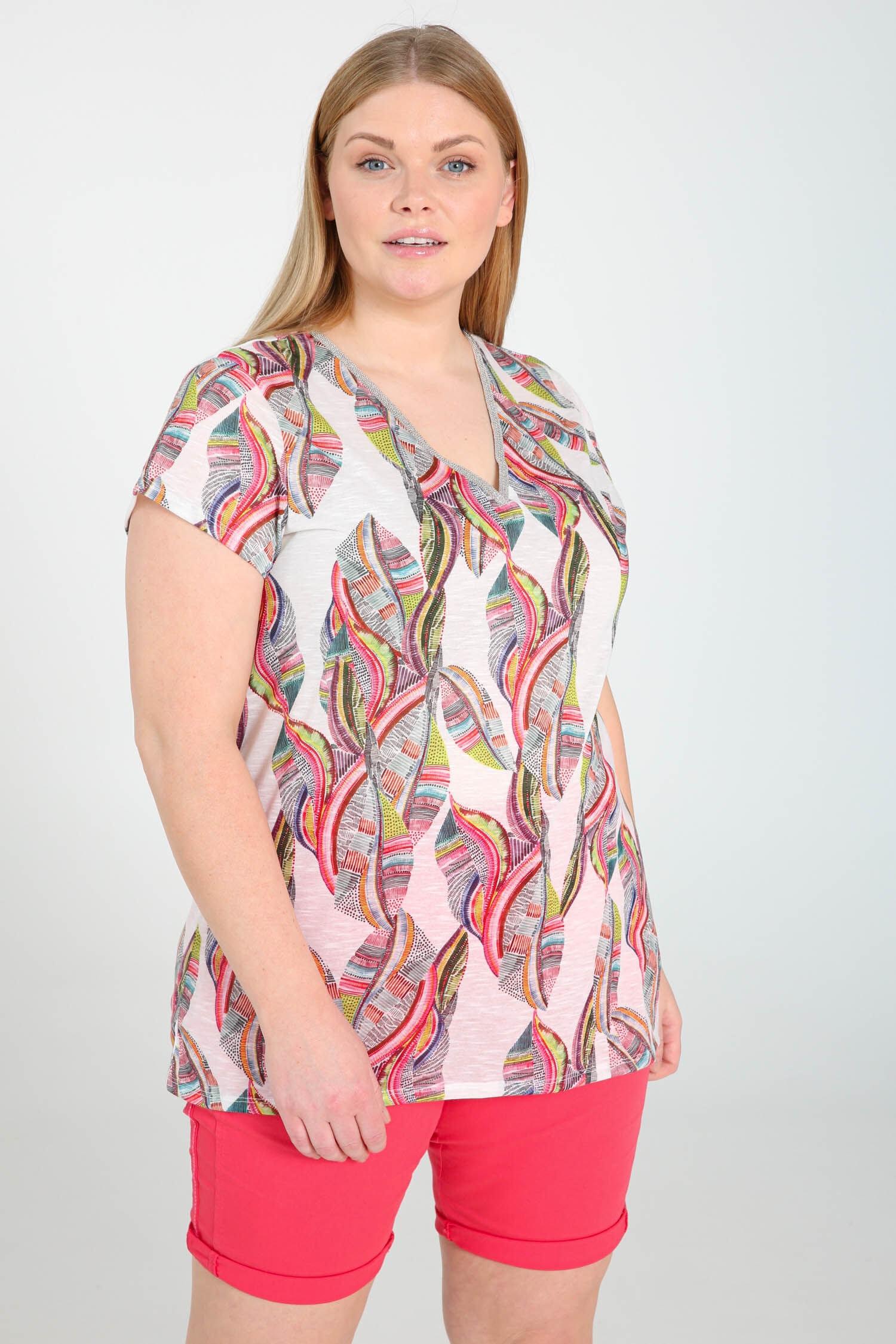 paprika printshirt T Shirt mit kurzen Ärmeln