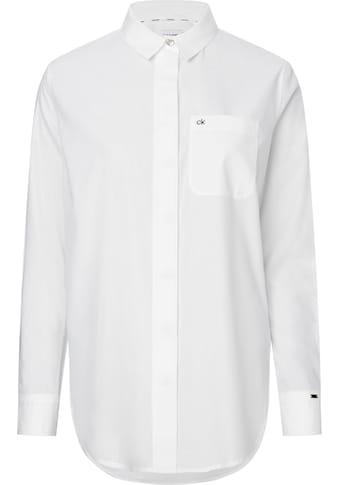 Calvin Klein Hemdbluse »SOFT POPLIN LS TUNIC SHIRT« kaufen