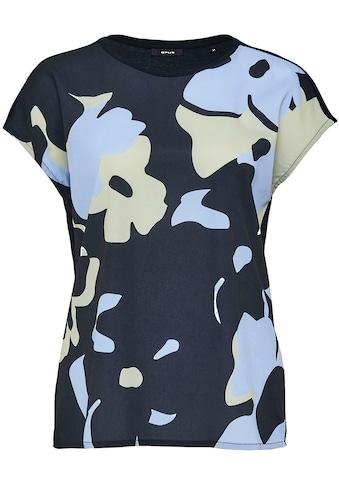 OPUS Kurzarmshirt »Siko«, mit floralem Print vorne kaufen