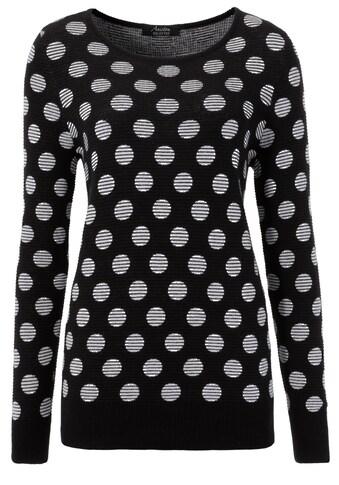 Aniston SELECTED Strickpullover, im modisch gestreiften Punkte-Design kaufen