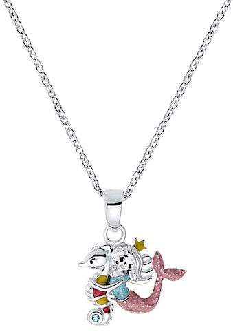 Prinzessin Lillifee Kette mit Anhänger »Seepferd/Meerjungfrau 2031159«, mit Zirkonia und Emaille kaufen
