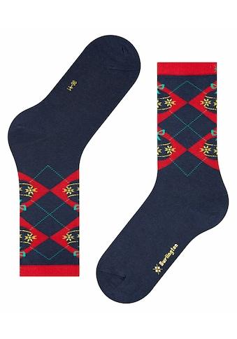 Burlington Socken »Xmas Argyle«, (1 Paar), mit hochwertiger Baumwolle kaufen