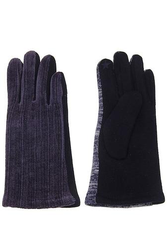 leslii Handschuhe mit modischem Strickmuster kaufen