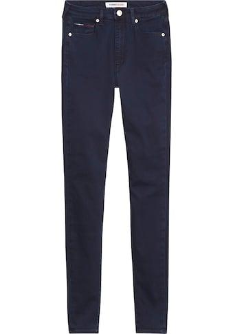TOMMY JEANS Skinny-fit-Jeans »SYLVIA HR SUPER SKNY«, mit Tommy Jeans Logo-Badge & Stickereien kaufen