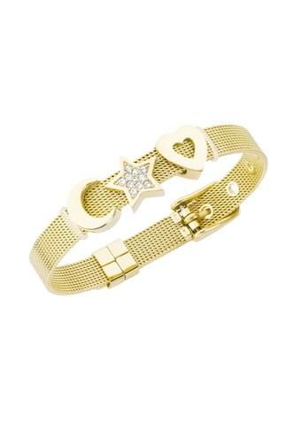 Jacques Charrel Armband »Milanaise mit Kristallsteinen Mond, Stern, Herz« kaufen