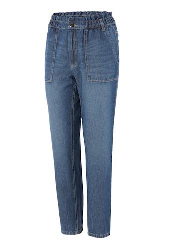 Aniston CASUAL Loose-fit-Jeans, high waist mit bequemen Gummizugbund, Paperbag-Jeans -... kaufen