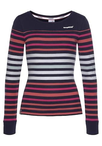 KangaROOS Langarmshirt, mit Steifen im tollen Farbverlauf kaufen