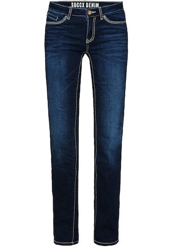 SOCCX Slim-fit-Jeans »RO:MY«, mit hellen Nähten kaufen