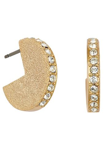 DKNY Paar Ohrstecker »Shimmer Metal Solid Hoop ER (GL), 5548778«, mit Swarovski® Kristallen kaufen