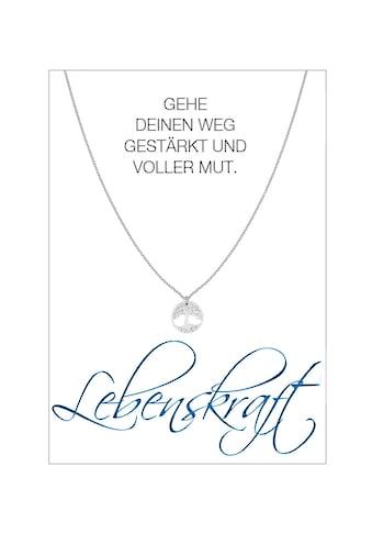HERZ-KARTE Silberkette »Lebenskraft«, rhodiniert mit Baum des Lebens, 925/-... kaufen
