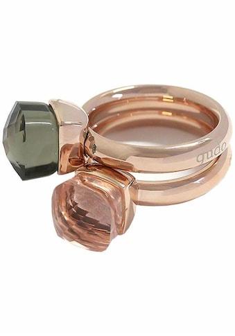 qudo Ring-Set »Firenze, O600037, O600039, O600040, O600042«, (Set, 2 tlg.), mit Zirkonia kaufen