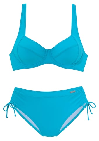 LASCANA Bügel-Bikini, mit seitlich geraffter Bikinihose kaufen