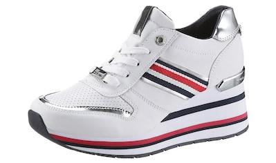 TOM TAILOR Wedgesneaker, mit buten Streifen kaufen
