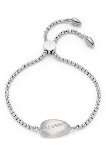 LEONARDO Edelstahlarmband »Ciottolo, 018294«, mit Kristallglassteinen kaufen