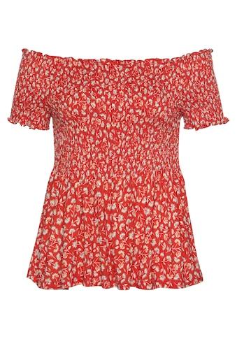 Vivance Carmenshirt, mit Blümchenprint kaufen