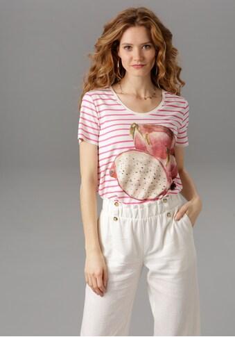 Aniston CASUAL T-Shirt, gestreift, mit Kiwi, Zitrone oder Drachenfrucht kaufen