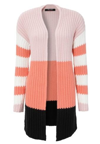 Aniston CASUAL Strickjacke, im trendigen Colorblocking kaufen