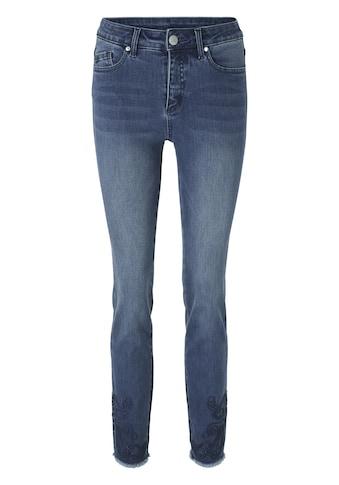 LINEA TESINI by Heine Skinny-fit-Jeans, mit Stickerei kaufen