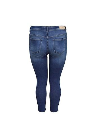 ONLY CARMAKOMA Skinny-fit-Jeans »Willy«, mit Fransensaum kaufen