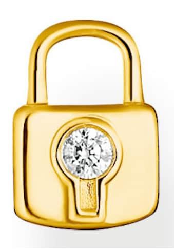 THOMAS SABO Single-Ohrstecker »Schloss gold, Schloss silber, H2219-051-14,... kaufen
