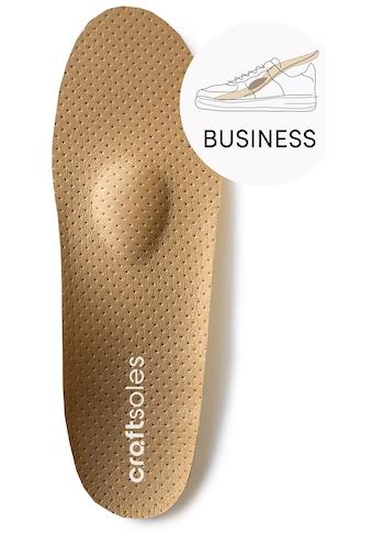 craftsoles orthopädische Schuheinlagen »Businessschuhe - Microleder«, Maßanfertigung kaufen