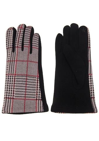leslii Handschuhe mit Karo - Muster kaufen