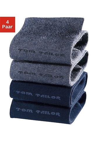 TOM TAILOR Socken, (4 Paar), mit druckfreiem Bündchen kaufen