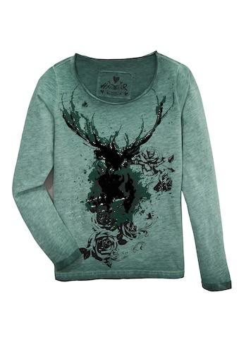 Hangowear Trachtenshirt »Hannerose«, mit Samtelementen im Print kaufen