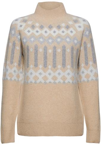 Esprit Strickpullover, im trendy Norweger-Design mit Stehkragen kaufen