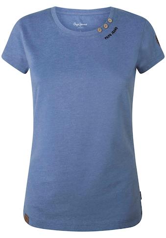 Pepe Jeans Print-Shirt »NEW VIRGINIA«, in unifarbenem Design in toller Basic Passform... kaufen