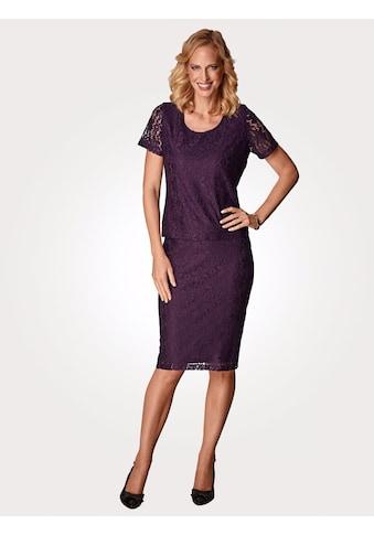 Mona Spitzenzweiteiler bestehend aus Shirt und Rock kaufen