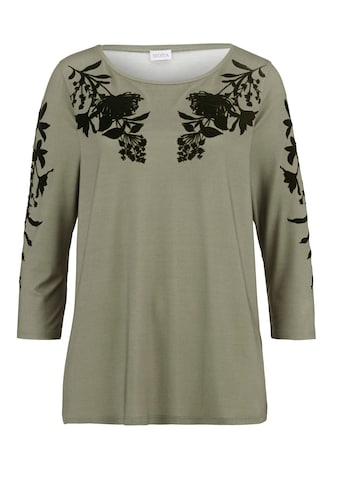 Mona Print-Shirt, mit tonigem Flockdruck kaufen
