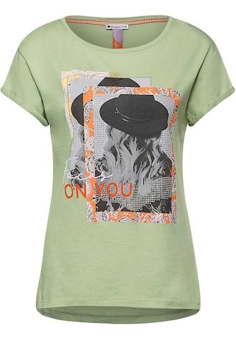 STREET ONE Print-Shirt, mit glitzernden Nieten kaufen