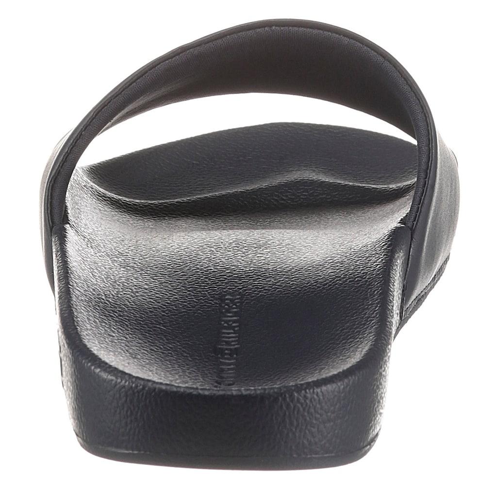 Tommy Hilfiger Pantolette »EMBROIDERY SIGNATURE SLIDE«, mit gesticktem Label