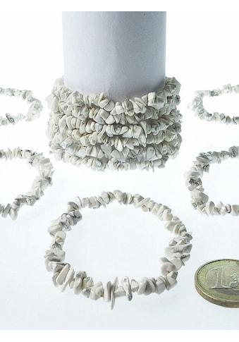 Adelia´s Armband »Damen Schmuck Edelstein Magnesit Armband grau 19 cm« kaufen