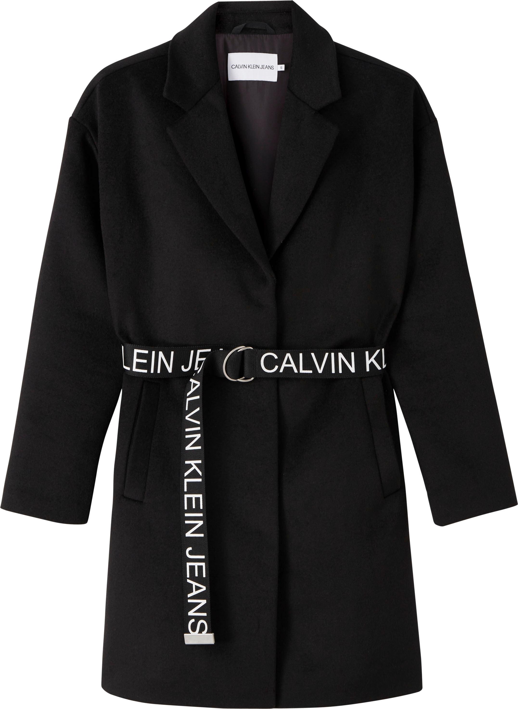 calvin klein jeans -  Kurzmantel PATTERNED WOOL BLEND BLAZER COAT