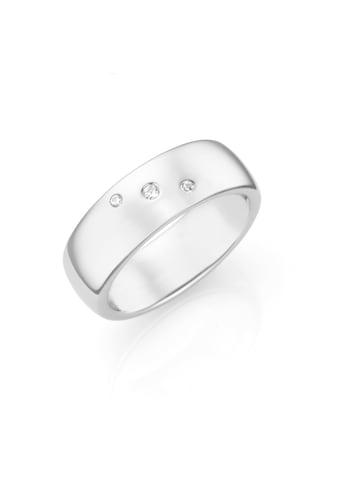 Smart Jewel Silberring »mit eingeriebenen Zirkonia Steinen« kaufen