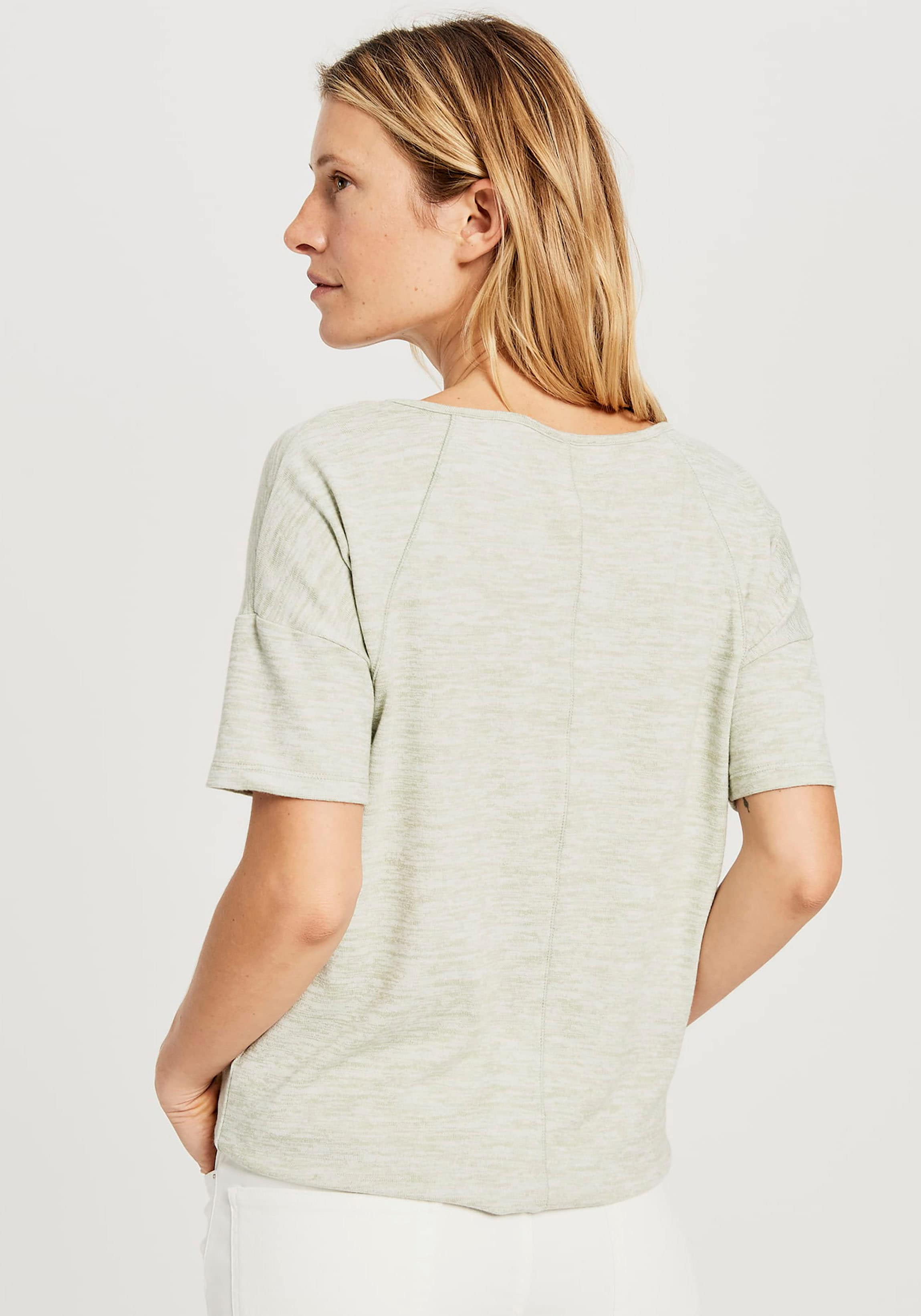 opus -  T-Shirt Sofiena, in lässiger Melange-Optik