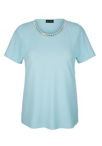 m. collection Kurzarmshirt, aus strukturiertem Material kaufen