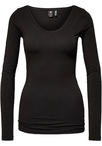 G-Star RAW Langarmshirt »Basic Round Neck T-Shirt«, Basic T-Shirt mit Elasthan kaufen