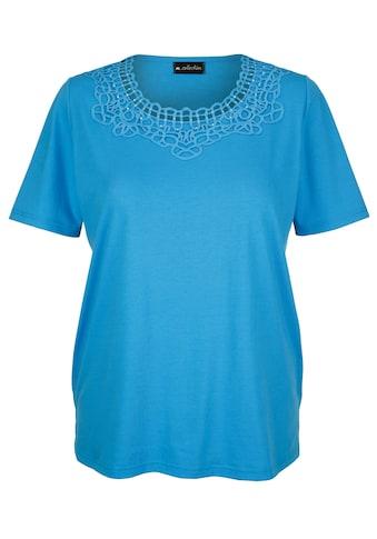 m. collection T-Shirt, mit Häkelspitzen-Einsatz kaufen
