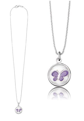 Herzengel Kette mit Anhänger »Schmetterling als Symbol für Natur, HEN-GLAS-06NATURE«, mit Glaslinse und Emaille kaufen