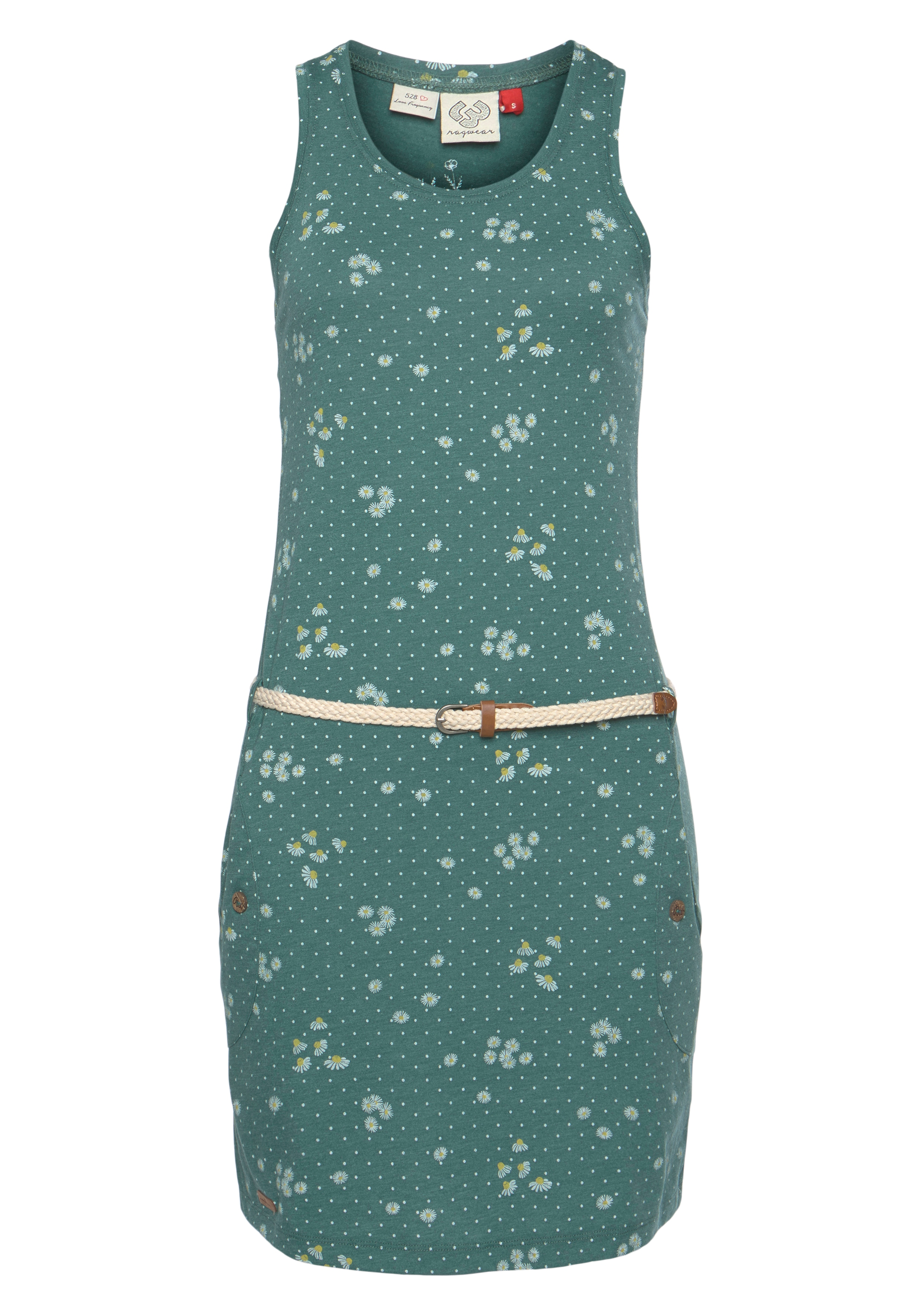 ragwear -  Shirtkleid KESY, (2 tlg., mit abnehmbarem Gürtel), Allover-Trend Druck: Kamille
