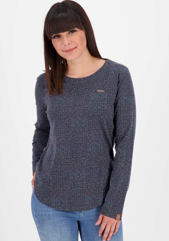 alife & kickin -  T-Shirt LeaAK B, modisches Longsleeve mit Bogensaum& Rundhalsausschnitt