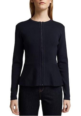 Esprit Collection Strickjacke, mit Schößchen Saum kaufen