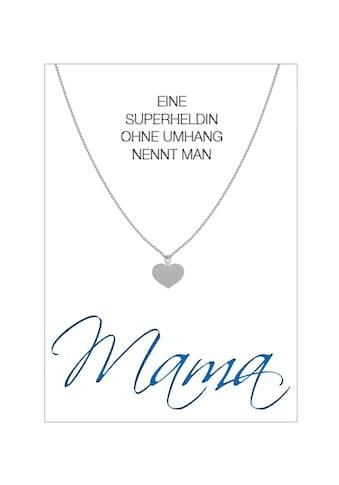 HERZ-KARTE Silberkette »Mama«, rhodiniert mit Herz 925/- Sterlingsilber kaufen