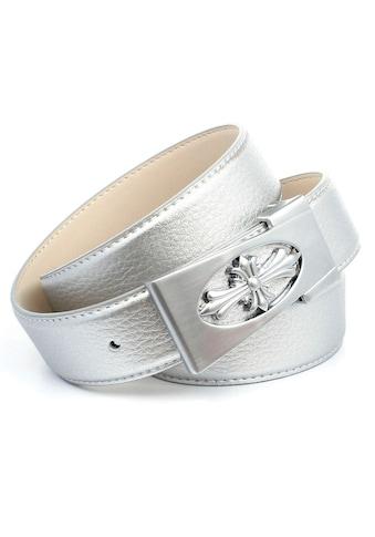 Anthoni Crown Ledergürtel, mit Fashion-Koppelschließe, glänzende Oberfläche kaufen
